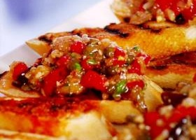 Chunky chicken chili aaron mccargo jr food network recipe chunky eggplant bruschetta recipe foodnetwork forumfinder Gallery