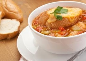 Roasted vegetable soup ina garten food network recipe autumn vegetable soup with cheesy toasts forumfinder Image collections