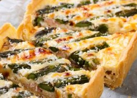 Asparagus terrine recipe alton brown food network recipe asparagus and bacon quiche forumfinder Images