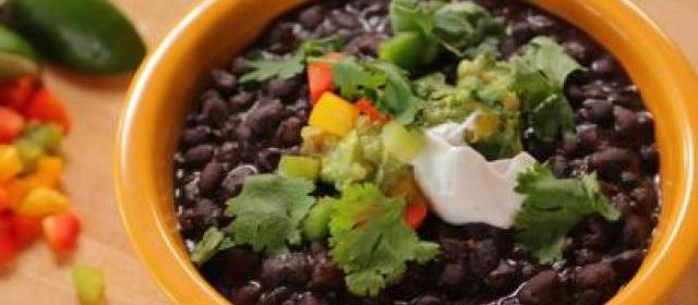 Smashed Black Beans Recipe | Melissa Darabian | Food Network