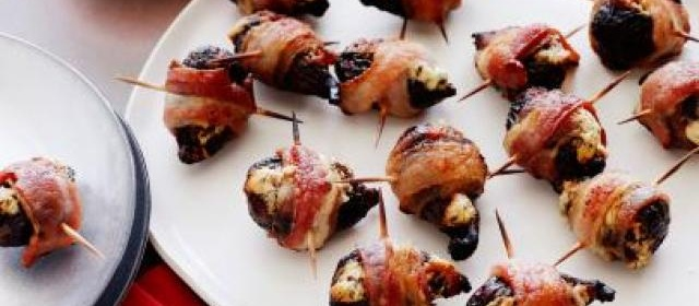 Stuffed Figs in a Blanket Recipe | George Duran | Food Network