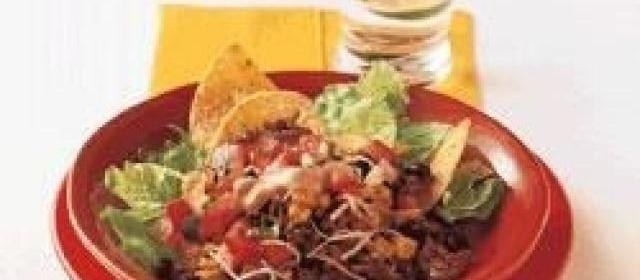 Taco Salad with Roasted Corn and Pico de Gallo