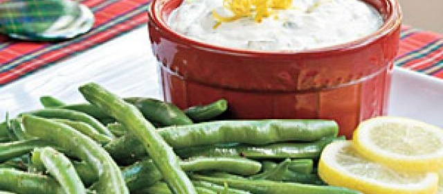 Fresh Lemon-Basil Dip With Blanched Green Beans Recipe ...