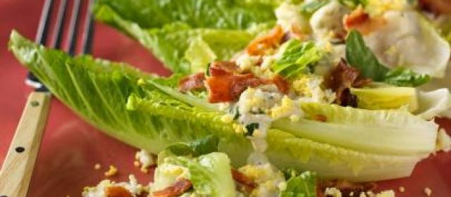Hearts of Romaine with Blue Cheese and Bacon