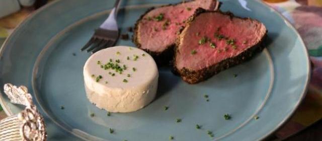 Peppered Beef Tenderloin Recipe | Valerie Bertinelli | Food Network