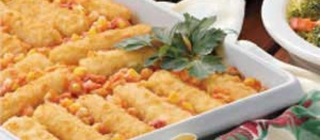 Spanish Corn with Fish Sticks