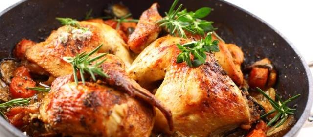 Skillet Chicken With Creamy Spring Vegetables