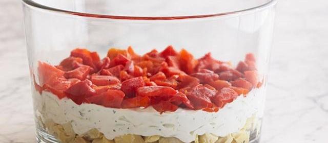How to Make 7-Layer Vegetarian Greek Dip