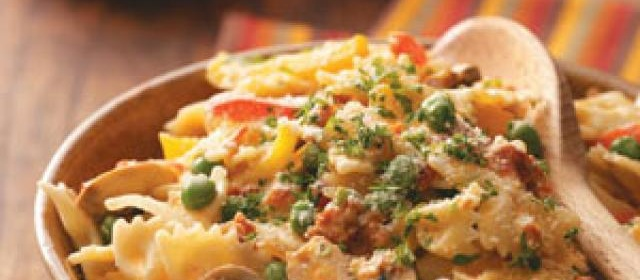 Vegetable Pasta with Sun-Dried Tomato Sauce