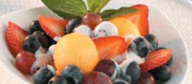 Fruit with Honey-Ginger Dressing