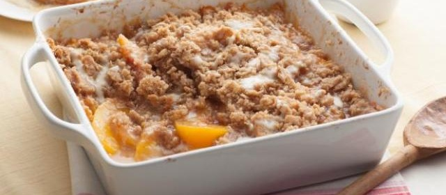 Peach Crisp with Maple Cream Sauce Recipe | Ree Drummond ...