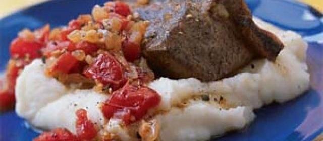 Balsamic-Braised Short Ribs with Horseradish Mashed Potatoes ...