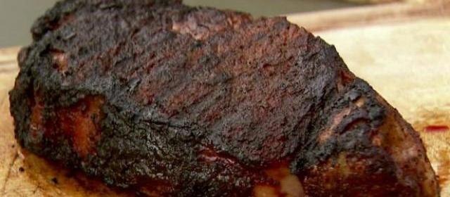 New York Strip Steak with Spicy Coffee Rub Recipe | Food Network