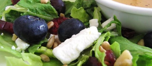 Deliciously Sweet Salad with Maple, Nuts, Seeds, Blueberries, and ...