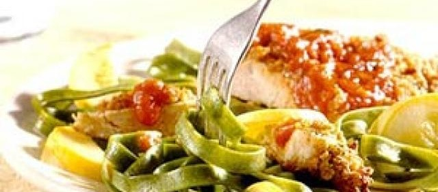 Parmesan Turkey with Pasta Sauce