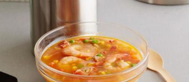 Just-Add-Water Shrimp Paella Soup