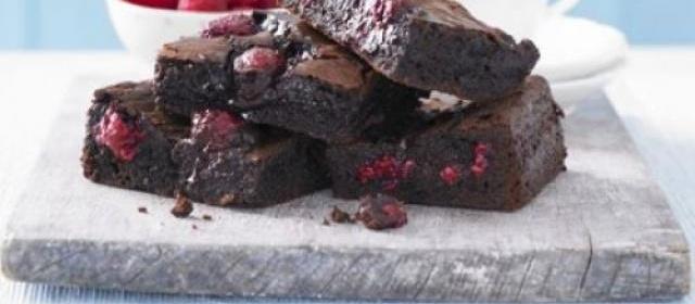 Best-ever chocolate raspberry brownies