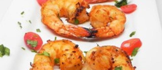 Healthier Marinated Grilled Shrimp