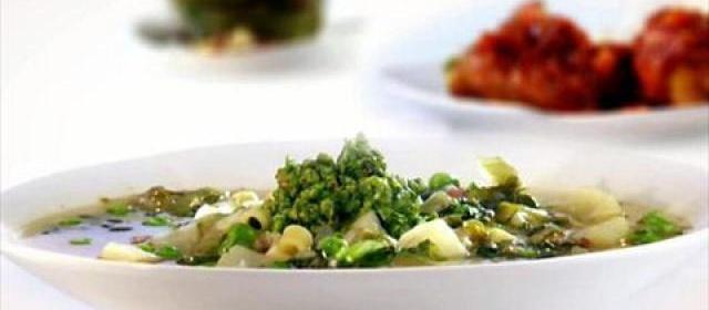 Pea and Potato Soup with Pesto Channel Videos