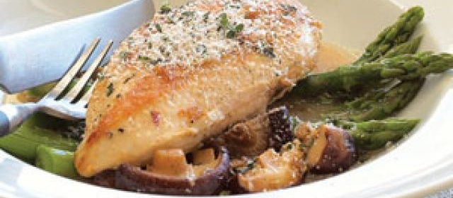 Pan-roasted Chicken with Asparagus and Shiitakes Recipe ...