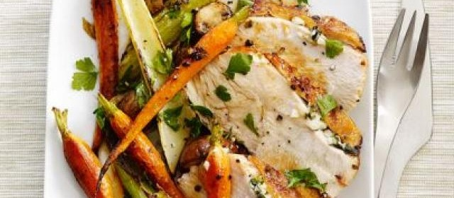 Skillet Turkey With Roasted Vegetables