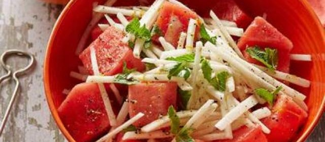 Jicama and Watermelon Salad