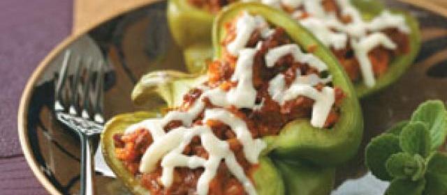 Healthy Vegetarian Stuffed Peppers