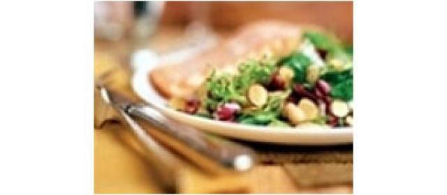 Roasted Salmon with White Bean, Almond & Radicchio Salad Recipe