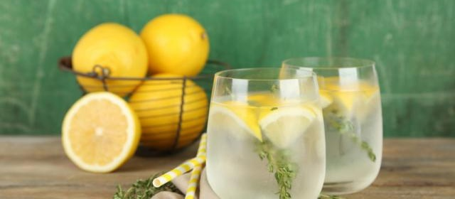 Grilled Lemon and Thyme Lemonade