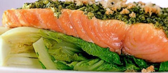 Salmon with Pesto Mayo