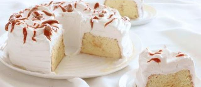 Tres Leches Cake with Dulce de Leche Frosting