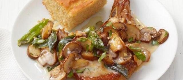 Pork Chops With Mushroom Gravy Recipe | Food Network Kitchen ...