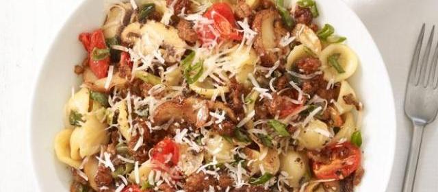 Orecchiette With Spicy Sausage Recipe   Food Network Kitchen ...