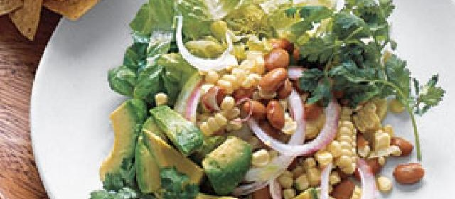 Cool Southwestern Salad With Corn and Avocado Recipe ...