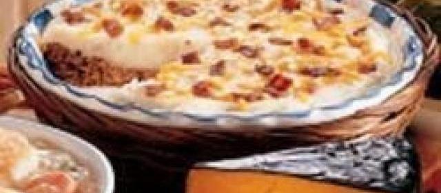 Meat Shell Potato Pie