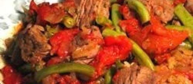 Nita's Lamb, Green Beans and Tomatoes