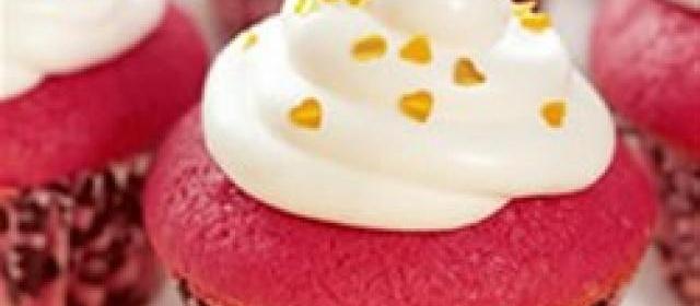 Mini Red Velvet Cupcakes with Italian Meringue Frosting