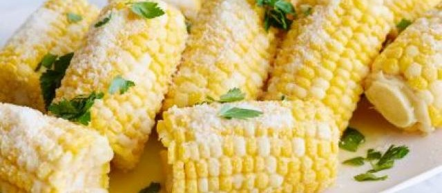Corn on the Cob with Parmesan Cheese