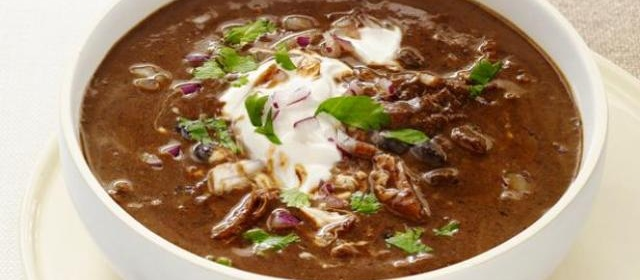 Slow-Cooker Black-Bean Soup with Turkey Recipe | Food Network ...
