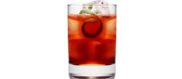 Black Cherry Vodka with Smoked Ice Cubes