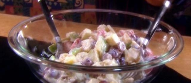 Fruit Salad with Vanilla Dressing Recipe | Alton Brown | Food Network