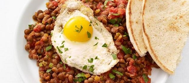 Lentils with Fried Eggs Recipe | Food Network Kitchen | Food Network