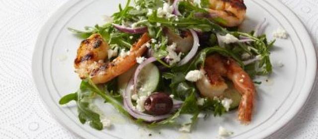 Grilled Shrimp and Feta Salad