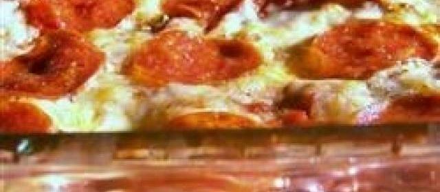 Baked Spaghetti Pizza Recipe  Allrecipes.com