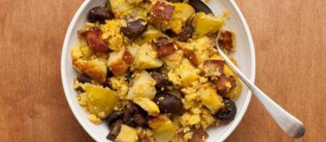 Cornbread Dressing with Pancetta, Apples, and Mushrooms Recipe ...