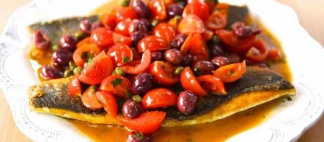 Pan-Seared Branzino with Tomato and Capers Recipe | Giada De ...