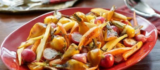 Roasted Winter Vegetables Recipe | Valerie Bertinelli | Food Network