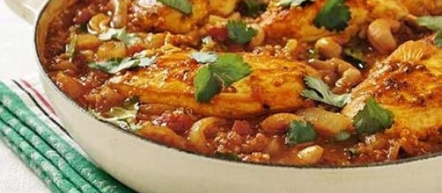 Spiced chicken balti