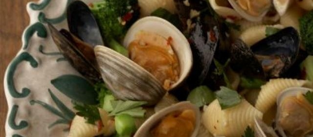Conchiglie With Clams and Mussels