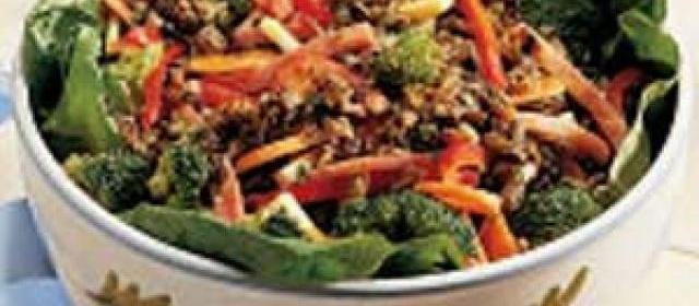 Wild Rice Ham Salad